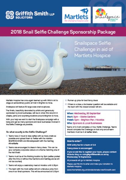 Snailspace Selfie Challenge | Martlets Hospice