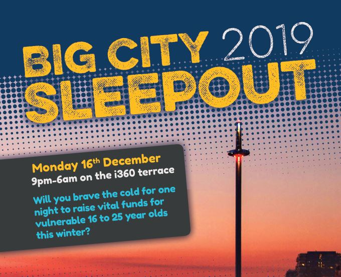 Big city sleepout 2019 | The Clock Tower Sanctuary | Brighton