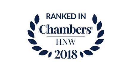 Ranked in Chambers HNW 2018